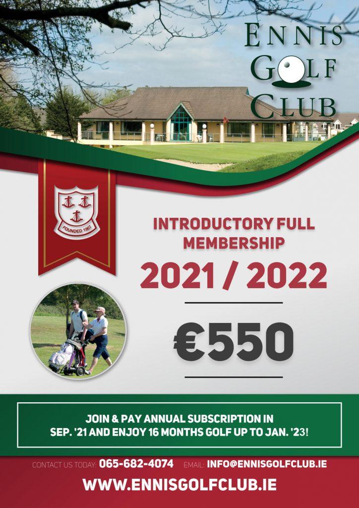 Ennis Golf Club Membership 2021&2022_1